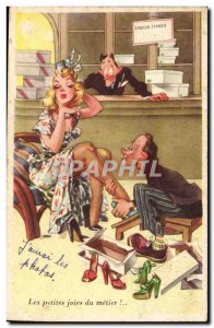 Old Postcard The Fantasy Humor small joys in the art (women shoe)
