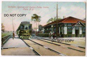 R.S.& E Trolley Station, Clyde NY