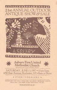 Asbury Methodist Church Antique Show Rochester NY New York Ephemera Advertising