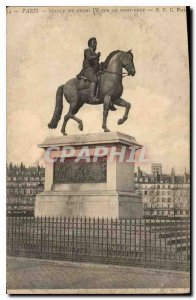 Postcard Old Paris Statue of Henri IV on the Pont Neuf