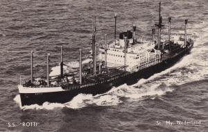 SS Rotti Dutch Ship Vintage Real Photo Postcard