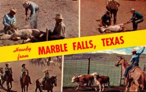 Texas Howdy From Marble Falls Ranching Scenes