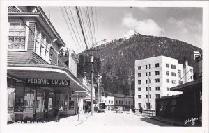 Alaska Ketchikan Mission Street Federal Drug Store Real Photo RPPC