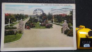 STD Vintage Forest Park Boulevard Fort Wayne Indiana Old Car Posted 1926