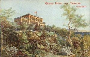 Girgenti Italy Grand Hotel Des Temples c1910 Postcard