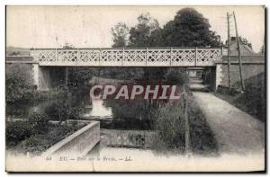 Old Postcard Eu Bridge Bresle
