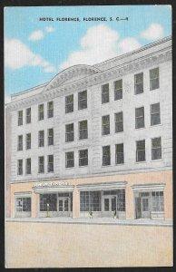 Hotel Florence Florence South Carolina Unused c1930s