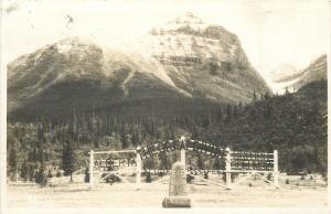 Alberta~Great Divide Gate~Canadian Pacific Railway~Monument~1948 Real Photo~RPPC