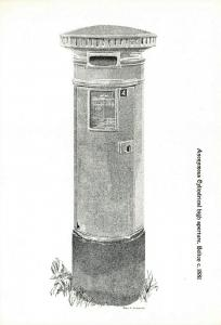 Postcard, Cylindrical High Aperture Post box Illustration, Bolton c1881 76R