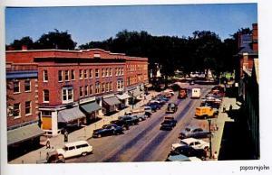 Hanover NH Street Vue Old Cars Postcard