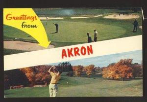 Akron, Ohio/OH Postcard, Multi-View Golf Course/Golfing,Firestone Country Club?
