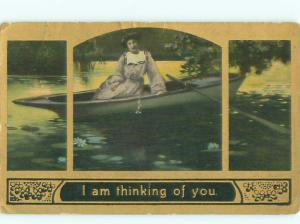 Divided-Back PRETTY WOMAN Risque Interest Postcard AA7810