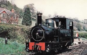 The Earl Welsh Train at Llanfair Welshpool & Railway Station Postcard