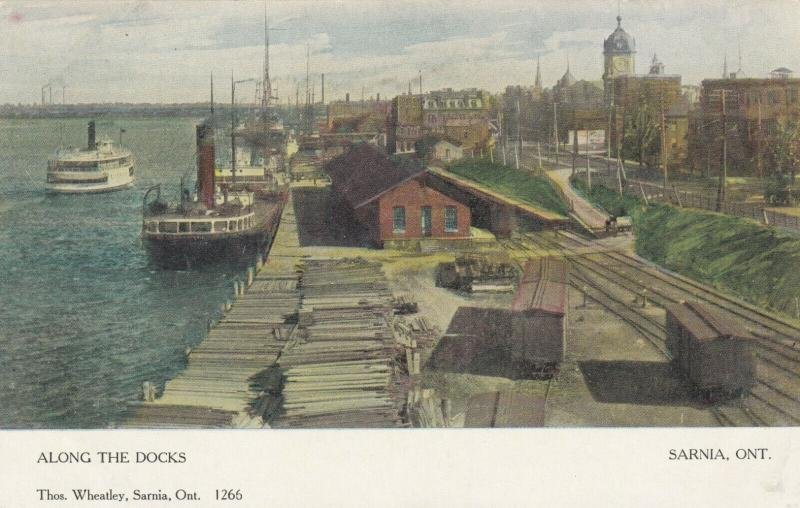 SARNIA , Ontario , 1909 ; Along the Docks #2