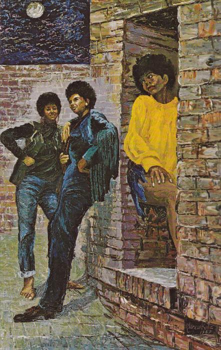Three Soul Sisters [Artist Morris Katc NYC] , New York City , 1969