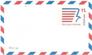 UXC14  Air Mail Postcard