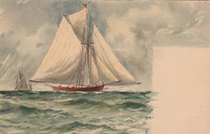 TUCK #978; Marine, Sailing Vessels in open water, 1900-10s