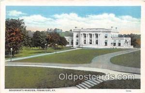 Governor's Mansion Frankfort, KY, USA Postcards Post Cards Old Vintage Antiqu...