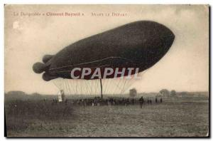 Old Postcard Aviation Zeppelin airship Clement Bayard Before departure
