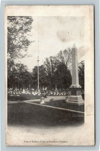 Columbus OH, Soldiers Circle At Greenlawn Cemetery, Vintage Ohio Postcard