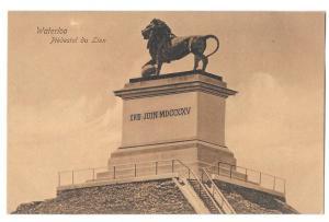 Belgium Waterloo Piedestal du Lion Dr Trenkler Postcard