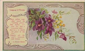 Language Of Flowers Yellow Cowslips 1909