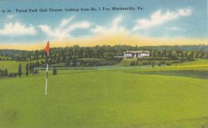 Forest Park Golf Course, looking from No. 1 Tee, Martinsville, Virginia, 1930...