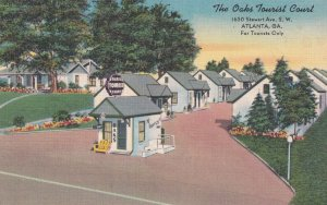 ATLANTA, Georgia, 1930-1940s;  The Oaks Tourist Court