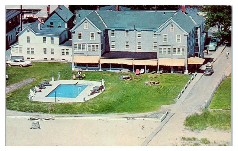 1950s 60s Aerial View Of The Ocean House Old Orchard Beach Maine Postcard