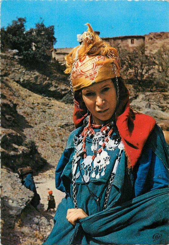 Young beauty ethnic woman from Imin Tanout Morocco