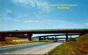 New Jersey Turnpike Tri-Level Crossing At Woodbridge 1958