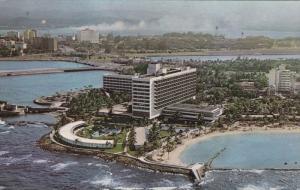 Aerial View, Caribe Hilton, Swimming Pool, Ocean, Beach, SAN JUAN, Puerto Ric...