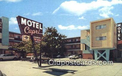 Motel Capri, San Francisco, CA, USA Motel Hotel Postcard Post Card Old Vintag...