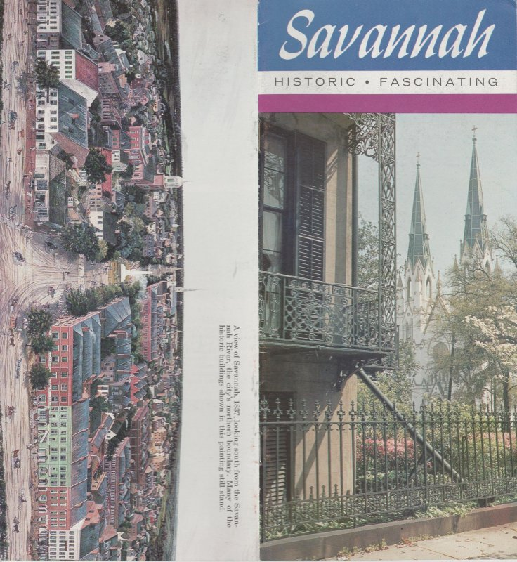 Savannah, Georgia, Historic, Fascinating, Vintage Brochure,