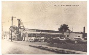 Wrightstown NJ Victory Diner Fort Dix Road Old Cars 1956 Postcard