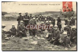 Old Postcard L & # 39Infanterie Maneuvers In The Big d & # 39Halte Preparatio...