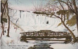 Minnesota Minneapolis Minehaha Falls In Winter