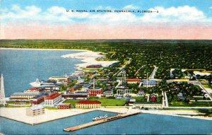 Florida Pensacola U S Naval Air Station Panoramic View