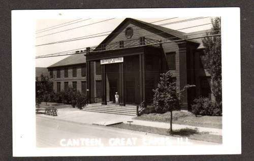IL Canteen Navy Naval Station GREAT LAKE ILLINOIS Real Photo Postcard RP RPPC