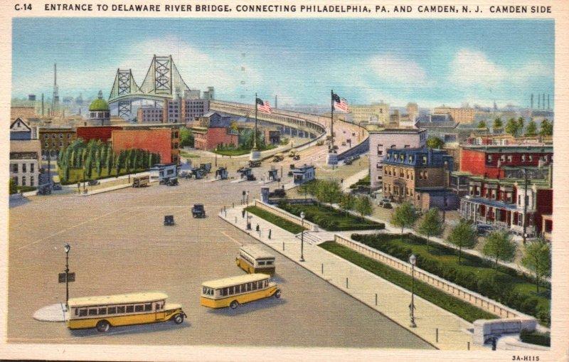 Delaware River Bridge,Philadelphia,PA and Camden,NJ Camden Side