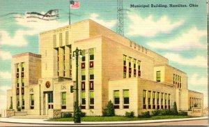 Hamilton OH Municipal Building Postcard unused (23989)