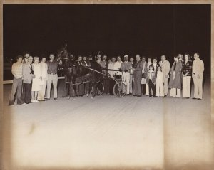 NORTHFIELD PARK, MARY MEL In The Winners Circle, 10th Win, Harness Horse Race