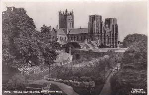 RP, Wells Cathedral From North West, Somerset, England, UK, 1920-1940s