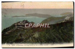 Old Postcard Eze Panorama And Cape Ferral Views From The Grande Corniche