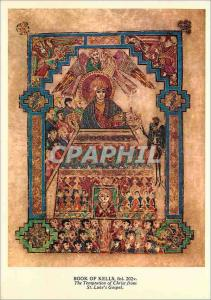 Modern Postcard The Book of Kells is a beautifully illuminated manuscript of ...
