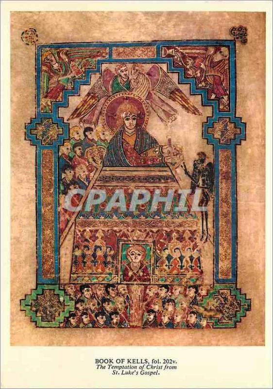 Modern Postcard The Book of Kells is a beautifully illuminated manuscript of ...