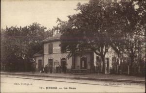 Medea Algeria RR Train Station c1915 Postcard