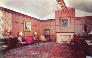 Alma Michigan~Alma College-Frank Knox Conference Room~Portrait~1950s Postcard