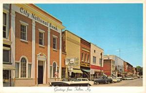 Fulton Kentucky Lake Street Scene Bank Vintage Postcard K52906