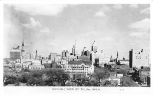 Tulsa Oklahoma~Skyline View of City~1940s Real Photo Postcard~RPPC